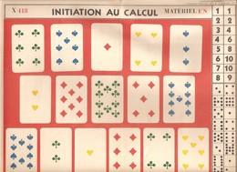 Planche Scolaire Didactique Initiation Au Calcul Editions Fernand Nathan De 1955 - Affiches