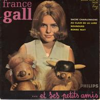 """FRANCE GALL """"SACRE CHARLEMAGNE/AU CLAIR DE LA LUNE/NOUNOURS/BONNE NUIT"""" DISQUE VINYL 45 Tours - Other - French Music"""