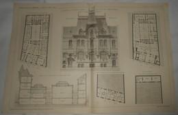 Plan Du Dispensaire Du Docteur Gibert Au Havre. Seine Inférieure. M.M. L Et A. Peine, Architectes. 1910. - Public Works