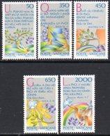 Vatican City 1986 International Peace Year Set Of 5, MNH, SG 846/50 (A) - Vatican