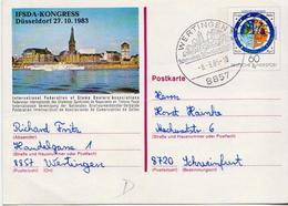 Germany Used Postal Stationery Card ( Ganzsache) - [7] Federal Republic