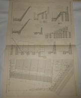 Plan De La Consolidation Partielle De La Butte Montmartre à Paris. M.M. Loup Et Fils, Constructeurs.. 1910. - Public Works