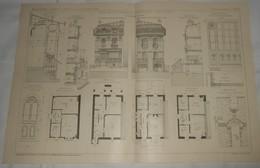 Plan D'une Petite Maison D'habitation à Sartrouville En Seine Et Oise. M. J. Defresne, Architecte. 1910. - Public Works