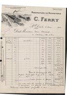 FACTURE ETS C. FERRY - SAINT DIE - MANUFACTURE DE BONNETERIE - 1900 – 1949
