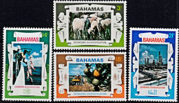 A0186 BAHAMAS 1975, SG444-7  Economic Diversification,  MNH - Bahamas (1973-...)
