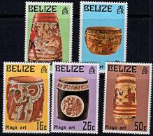 A0272 BELIZE 1975, SG 398-413  Mayan Artefacts (2nd Series),  MNH - Belize (1973-...)