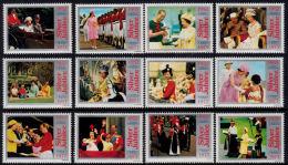 B0140 Queen Elizabeth Silver Jubilee, Set Of 12 Labels - Unclassified