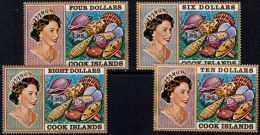 J0033 COOK ISLANDS 1967, SG 246-8 Definitives, High Values,  MNH - Cook
