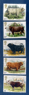 - Etat : **  5 Timbres Vache Taureau Boeuf   Classeur Animaux 11 - Vaches