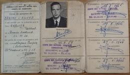 Ancienne Carte De La Fédération Royale Des Corps De Pompiers. 1958. Braine L'Alleud. Carlier, Gilbert. - Firemen