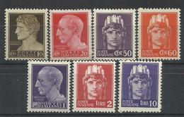 ITALIA REGNO ITALY KINGDOM 1945 1946 LUOGOTENENZA IMPERIALE SENZA FILIGRANA SERIE COMPLETA COMPLETE SET MNH - 5. 1944-46 Lieutenance & Humbert II: