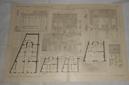 Plan D'un Hôtel Particulier, Boulevard Maritime Au Havre En Seine Inférieure. M. A. Boeswilwald, Architecte. 1910. - Travaux Publics