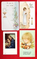 4 IMAGES RELIGIEUSES DE COMMUNION - Réf. N°9805 - - Images Religieuses
