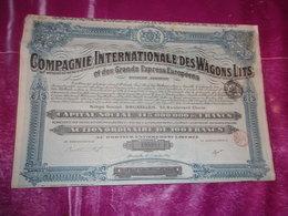 COMPAGNIE INTERNATIONALE DES WAGONS LITS Et Des Grands Express Européens - Actions & Titres
