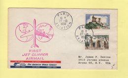 Premier Vol Par Jet Clipper - Paris USA - 27-10-1958 - Airmail