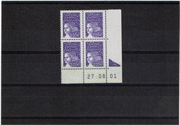 LCA6- MARIANNE DE LUQUET 2€ COIN DATE DU 27/8/2001 - Coins Datés