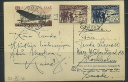 USSR 1938 Postcard From Moscow - 1923-1991 USSR