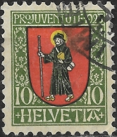 SWITZERLAND 1923 Children's Fund. Arms -10c. Glarus FU - Pro Juventute
