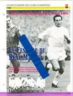 18/6 Fiche Football 25 X 18,5 Cm 2 Scans REAL MADRID EINTRACHT FRANKFURT Puskas Di Stefano - Football