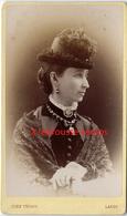 CDV Jolie Dame Au Chapeau Original-mode-photo John Fergus à Largs (Ecosse) - Photographs