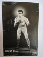 BOXE - Carte-Photo Franc YOUST Poids Welter - Champion De Provence Professionnel - En L'état ( Voir Annonce) - Boxing