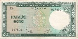 BILLETE DE VIETNAM DE 20 DONG DEL AÑO 1964  (BANKNOTE) - Vietnam