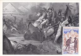Carte-Maximum FRANCE N° Yvert 1731 (BATAILLE Des PYRAMIDES) Obl Sp Ill 1er Jour (Ed PAC) - 1970-79