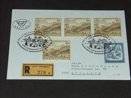 FDC Ersttag 21.8.1987: Naturschönheiten In Österreich (Gauertal - Montafon/Vorarlberg) RECO - FDC