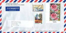 40 C Seymour Square Garden, 80 C America Cup Challenge, 40 C. Camelia X 2  On Air Letter To USA - Covers & Documents