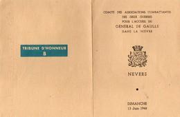 Vieux Papiers > Non Classés Nevers Général De Gaulle - Non Classés