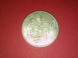 ARGENT SUPERBE 50 Francs 1958 Belgique - Royal / Of Nobility
