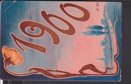 Postkarte Neujahr 1900 , Jugendstil - Nouvel An