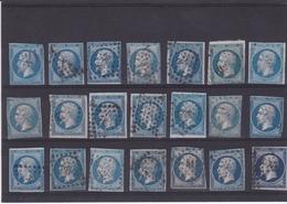 Bloc De 21 Timbres Du N° 14A° - 1853-1860 Napoléon III