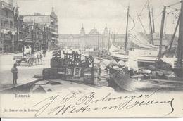 Amsterdam Damrak Met Centraal Station 1904 (?)  (B 10) - Amsterdam
