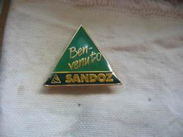 Pin's Benvenuto Chez SANDOZ (Bienvenue Chez Sandoz En Langue Italienne) - Pin's