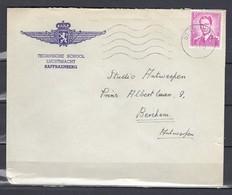 Brief Van St Truiden Naar Berchem Antwerpen Technische School Luchtmacht - 1953-1972 Lunettes