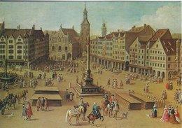 Deutsche Städte - München. Ansicht Des Marienplatzes.    # 07603 - Paintings
