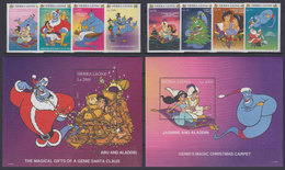 SIERRA LEONE 1997 - Disney Aladdin - Mi 2752-9 + B353-4; CV=22.5 € - Fumetti