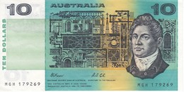 BILLETE DE AUSTRALIA DE 10 DOLLARS  DEL AÑO 1985 CALIDAD EBC (XF)  (BANKNOTE) - 1974-94 Australia Reserve Bank (paper Notes)