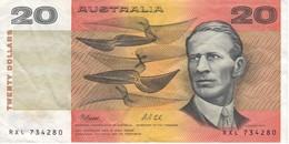 BILLETE DE AUSTRALIA DE 20 DOLLARS DEL AÑO 1972  (BANKNOTE) - Decimal Government Issues 1966-...
