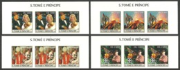 ST THOMAS AND PRINCE 2004 CELEBRITIES MONROE KENNEDY POPE GHANDI SCOUTS SET IMPERF MNH - Sao Tome And Principe