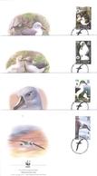 Oiseaux - L'Albatros à Tête Grise - 4 FDC South Georgia & The South Sandwich Is. - Série Complète - Marine Web-footed Birds