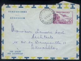 B14 - Belgian Congo - Aerogramme - Used 1958 - Leopoldville To Brussels - Ganzsachen