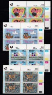 SOUTH AFRICA, 1994, MNH Control Block Of 4, Children Drawings, M 922-925 - South Africa (1961-...)