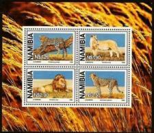 NAMIBIA, 1998, MNH Miniature Sheet Stamps, Large Wild Cats, Michel Block 37, #6915 - Namibia (1990- ...)