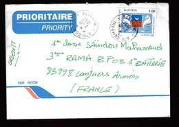 MAYOTTE  Lettre De COMBANI  Pour Conjuers Armées 2 10 1997  N° 43 De 1997 - Mayotte (1892-2011)