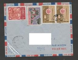 Vietnam 1965 N°YT 250 254 259 (paire) Mi 328 - Hung Vuong - Danh Lam Thang Canh - IUT / Enveloppe Voyagée Vers La France - Viêt-Nam