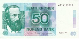BILLETE DE NORUEGA DE 50 KRONER DEL AÑO 1995 EN CALIDAD EBC (XF) (BANKNOTE) - Norvège
