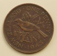 New Zealand - Penny - 1945 - George VI - Very Fine - New Zealand