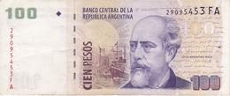 BILLETE DE ARGENTINA DE 100 PESOS  (BANKNOTE) JULIO ARGENTINO - Argentina